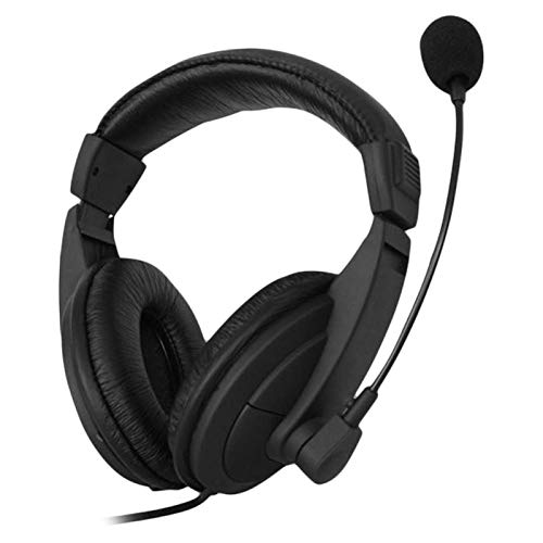G750 Universal 3.5mm Jack Over-Ear Business Computer Headset Headphone with Mic Gaming Earphone for PUBG CSGO PS4 for PC Laptop Black(Ship Immediately)