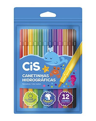 Canetinhas Hidrográficas CIS, 48.6105, Estojo com 12 cores
