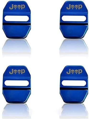 4 Piezas Metal Inoxidable Protectora Cubierta Cerradura Puerta del Coche para Jeep Compass 2007-2015, AnticorrosióN ProteccióN Interior Accesorios
