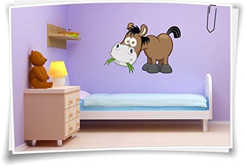 Medianlux Muurtattoo Stickers voor de kinderkamer sticker naam kindernaam baby paard
