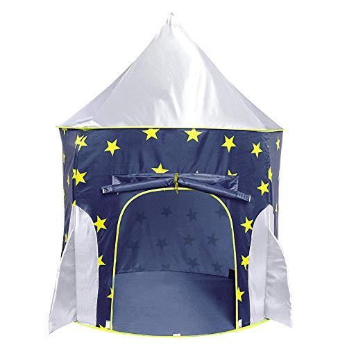 Achort Space Tienda de campaña para niños con túnel, Tienda campaña/casa/Carpa Plegable, casa de Juegos para niños y niñas, bebés y niños pequeños en Interiores y Exteriores