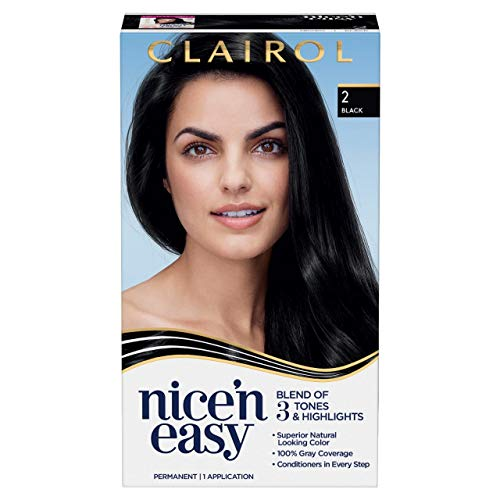 Clairol Nice'n Easy Permanent Hair Color, 2 Black