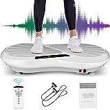 Caroma Pedana Vibrante 3D | Costruisci i Muscoli | 99 Livelli & 3 +1 Programmi di Esercizio | Piastre vibranti Massage Esercizio Machine con Telecomando e Bande (Grigio)