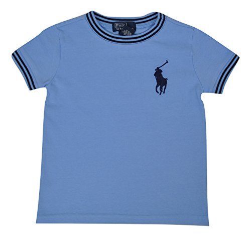 Polo Ralph Lauren Camiseta de manga corta para niño, talla 12, 18, 24 meses, azul o blanco blanco...