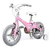 ZMDZA Bicicletas for niños, Bicicletas niños for Las Muchachas, 12 14 16 Pulgadas niñas Bicicletas con Ruedas de Entrenamiento, fácil Montaje de Bicicletas Niños (Size : 14inches)