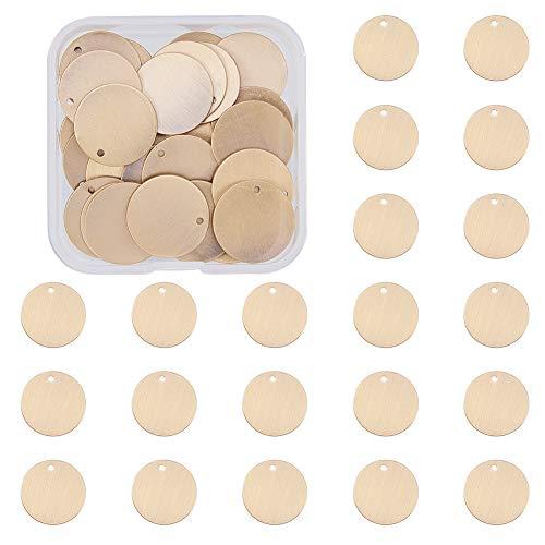 BENECREAT 30 Pcs Colgantes en Blanco de latòn para Pulsera Pendiente Colgante Atrativas Placas para Perro, Bronce Antiguo