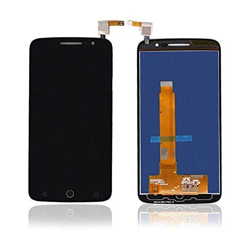 """un known Kompatieller Ersatz for Alcatel 7044 LCD-Schirm-One Touch Pop 2 Premium 7044Y 7044K Ot7044 LCD mit Analog-Digital-Anzeige (Color : Black, Size : 5.0\"""")"""