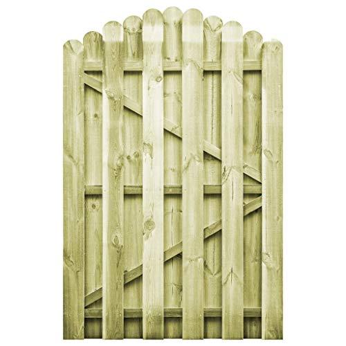 UnfadeMemory Puerta Madera Jardin Rústico con Diseño Arqueado,Entrada para Valla de Jardín Patio o Terraza,Madera de Pino Impregnada FSC (100x150cm)