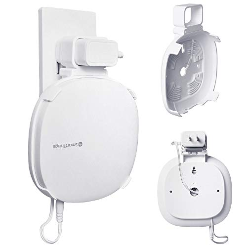 Samsung Smartthings Hub Mount foreaya Outlet Wall Mount Holder Compatible with Samsung Smartthings Hub(3rd Gen Only) Cord Arrangement Space Saving Home Improve