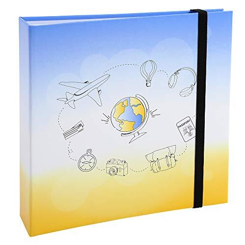 Exacompta 62210E Album Viaggio con Buste 200 Foto 10x15cm-Formato, 5x22cm-TRAVEL, Disegno, 22,5x22 cm