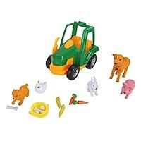 3歳以上の子供に適した明るい色の農場のおもちゃ