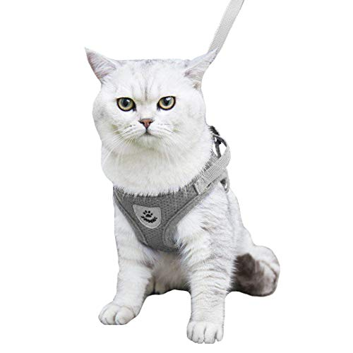 YujueShop Cat Harness and Leash Dog Harness Walking Adjustable Soft Mesh Pet...
