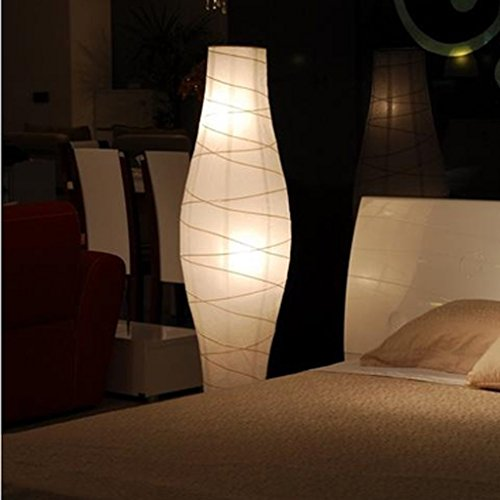AG Lámpara de pie Led de Lectura casera, Sala de Estar Creativa Lámpara de pie Pantalla de Papel Dormitorio Simple Lámpara de pie del Norte de Europa Protección de los Ojos Lámpara de Mesa Vertical