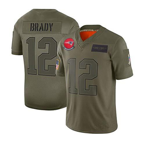 Camisetas De Rugby, NFL Patriots 12, 35, Repaso, 11, 3535, Ephraman Saluda Al Fútbol Por Bordar Camisetas Masculinas.