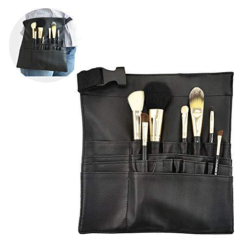22 Pockets Professional Cosmetic Makeup Brush Bag with Adjustable Belt Strap for Artist