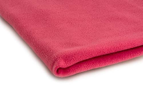 Polar tela de lana, prendas de punto, paño 300 g/m² - Disponible en una variedad de colores - 50 x 160 cm (Coral)