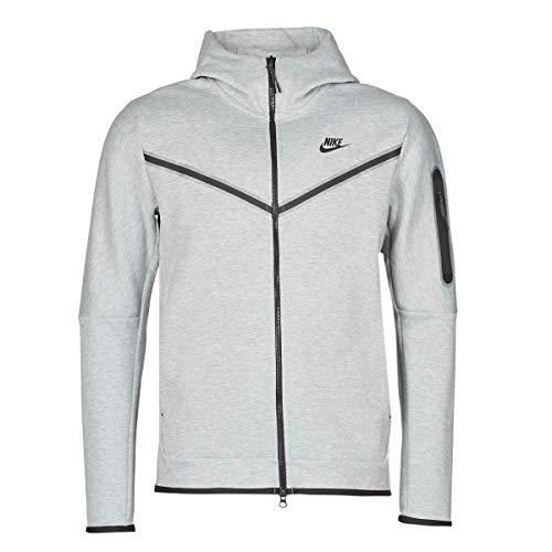 Nike Felpa da uomo Tech Full Zip Grigio erica/Nero M