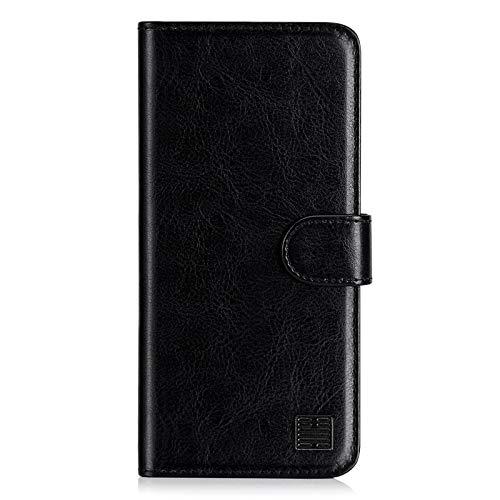 32nd PU Leder Mappen Hülle Flip Hülle Cover für Nokia 2.4, Ledertasche hüllen mit Magnetverschluss & Kartensteckplatz - Schwarz