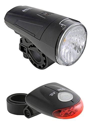 Fahrrad LED Beleuchtung Licht mit STVZO-tauglich inkl. Batterien 1 Watt