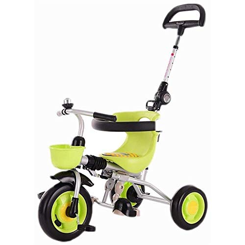 Lowest Prices! Folding Trike Kids' Tricycles,Baby Stroller Kids Tricycle Going Out Tricycle, 1-3-6 Y...