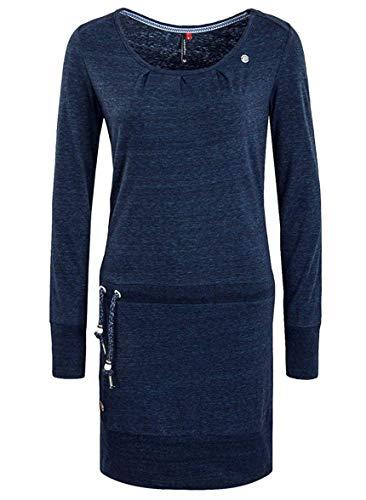Ragwear Damen Alexa Jerseykleid blau S