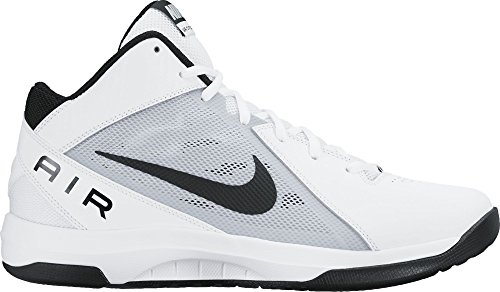 Nike Herren The Air Overplay IX Basketballschuhe, Blanco White Black Pure Platinum, 47.5 EU