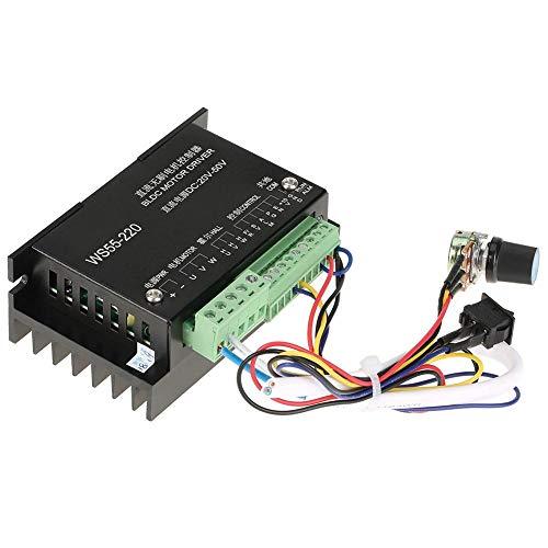 Controlador de controlador de motor con cable, WS55-220 Alto rendimiento 20VDC a 50VDC 500W Controlador de motor trifásico BLDC Husillo sin escobillas Controlador de controlador de motor BLDC