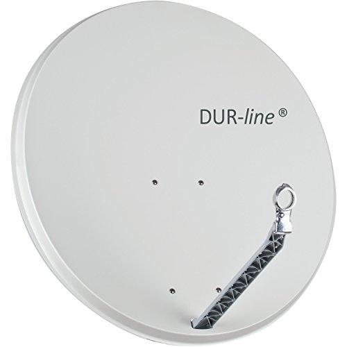 Preisvergleich Produktbild DUR-line Select 85cm x 90cm Alu Satelliten-Schüssel Hellgrau - [ Test SEHR GUT *] Aluminium Sat-Spiegel