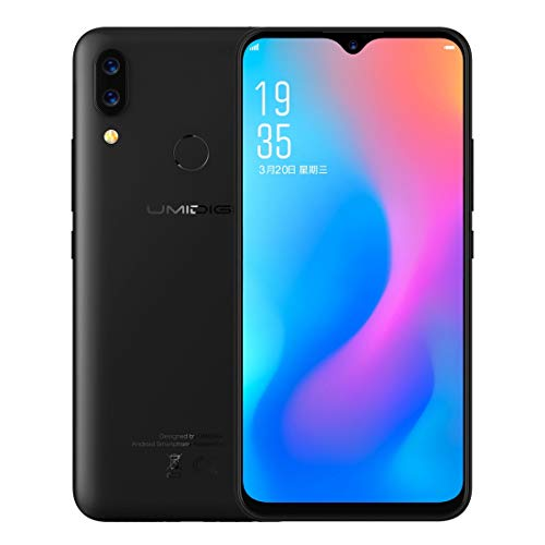 UMIDIGI Power 4GB+64GB 5150mAh Face ID & Fingerprint Identification 6.3 inch Water-Drop Full Screen Android 9.0 MTK Helio P35 Octa Core up to 2.3GHz GSM & WCDMA & FDD-LTE (Black)