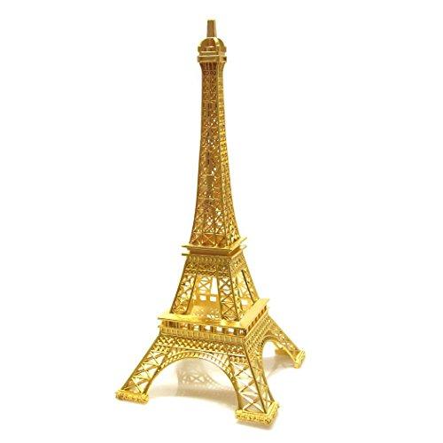 Ben Collection Paris – Figura Decorativa (Metal), diseño de Torre Eiffel, Dorado, 30,48cm