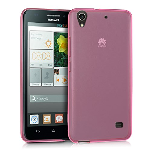 kwmobile Hülle für Huawei Ascend G620s - Ultra Slim Case Handy Schutzhülle TPU Silikon - Backcover Cover Pink