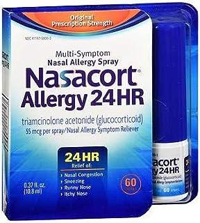 Nasacort Allergy 24 Hr Multi-Symptom Nasal Allergy Spray - 60 Sprays, Pack of 2