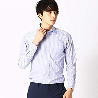 コムサイズムメンズ(COMME CA ISM) 〈イージーケア-〉ストライプ ワイドカラー 長袖シャツ