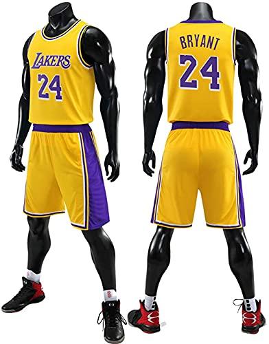 CPBY Traje De Ropa De Baloncesto para Hombres - 23 Ropa De Baloncesto Chaleco + Shorts Set De Dos Piezas - Negro Amarillo Púrpura L-5xl, G, L, B - L