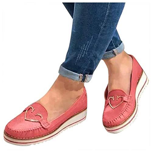 BIBOKAOKE Loafers Mocassins Chaussures de voile pour femme Plateforme Chaussures de bateau Chaussures de randonnée Slip On Loafer Chaussures décontractées pour l été Chaussures individuelles