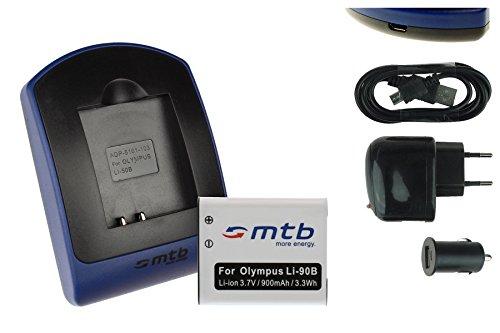 Akku + Ladegerät (Netz+Kfz+USB) LI-90B LI-92B für Olympus SH-1, SH-2, SH-50, SH-60 / XZ-2 / TG-1 TG-6 / TG-Tracker - s. Liste!