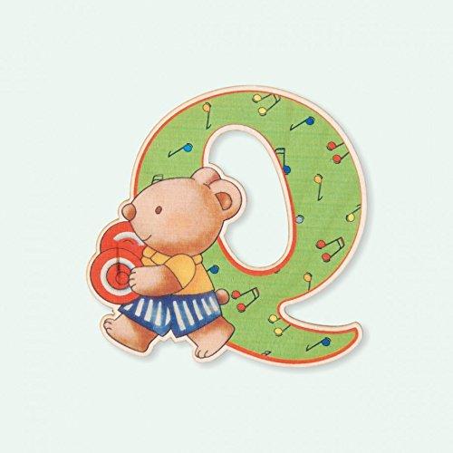 Dida - Lettre Q Bois Enfant - Lettres Alphabet Bois pour Composer Le nom de Votre bébé et décorer la Chambre