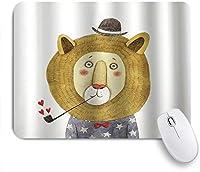 EILANNAマウスパッド ライオンかわいい漫画 ゲーミング オフィス最適 高級感 おしゃれ 防水 耐久性が良い 滑り止めゴム底 ゲーミングなど適用 用ノートブックコンピュータマウスマット