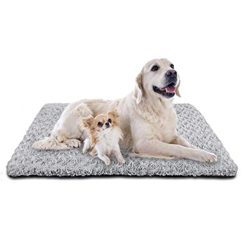 SIWA MARY Dog Bed Crate Pad Mat 30/36/42 in Anti Slip Washable Mattress Pets Kennel Pad for Large Medium Small Dogs Sleeping (40-inch,Grey) Beds