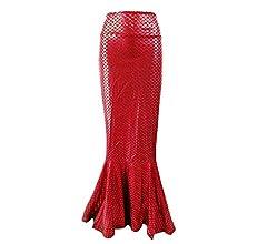 kunfang Mujer Falda Sirena Falda Elegantes Escamas de Pescado ...