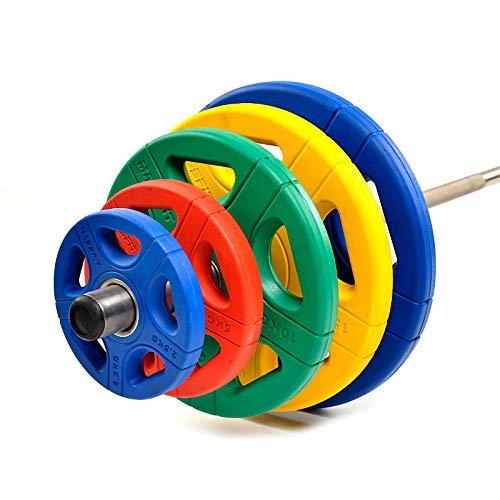 Discos de Pesas/Pesas Ideales para Mancuernas Y Barras Olímpicas Diámetro 50 Mm, 2.5kg-20kg Discos De Pesas,2x2.5kg