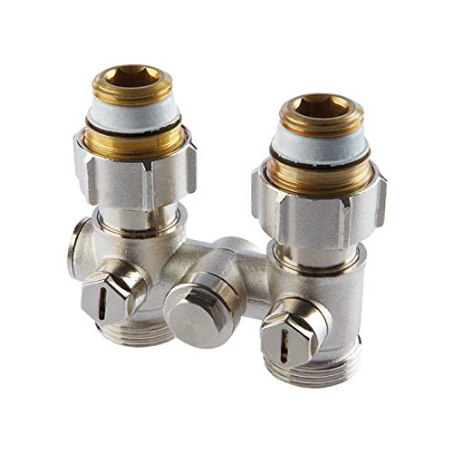Simplex HB Einrohr-Hahnblock D1 / 50: Anschlussmodul für Heizkörper mit integrierten Ventilen mit Innengewindeanschluss Rp1 / 2