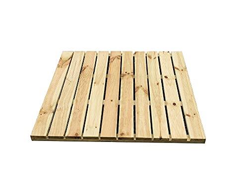 holz4home Baldosas de madera de pino impregnada a presión.