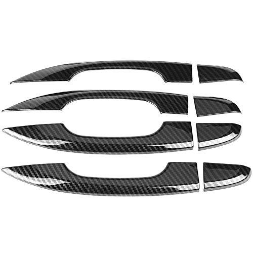 KIMISS - Juego de 8 tiradores de puerta de fibra de carbono