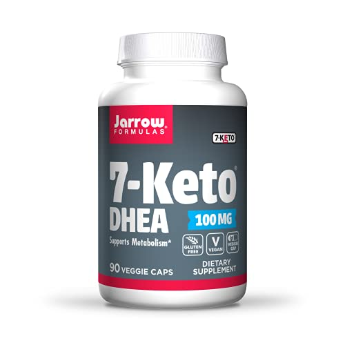 Jarrow Formulas 7-Keto DHEA 100 mg, Naturally-Occurring Metabolite, Supports Fatty Acid & Carbohydrate Metabolism, Up to 90 Servings, White, 90 Count