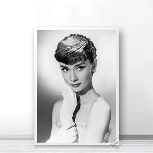 Audrey Hepburn Poster Movie Star Prints Nordic Black White Wall Art Canvas Painting Wall Pictures For Living Room Home Decor a43 50X70cm