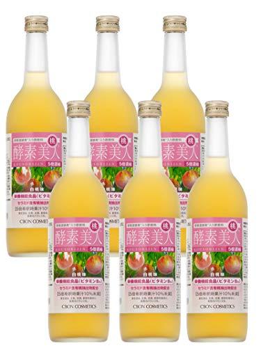 シーボン 酵素美人 桃(5倍濃縮・白桃果汁)720ml×6本セット 《酵素飲料・酵素ドリンク・酵素ダイエット》