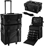 BuoQua Valigia da Make-up Artist, 2 In 1 Beauty Case In Nylon Borsa Make Up Trolley Professionale Con I Cassetti Di Stoccaggio (SM805)