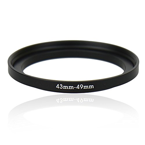 Kiwifotos SU 43-49mm Step-Up Metal Adapter Ring / 43mm Lens to 49mm UV CPL Filter Accessory