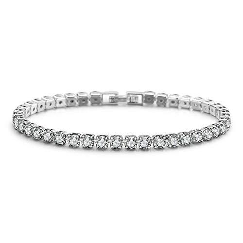 Pulsera de plata de ley 925 para mujer, para boda, joyería de moda, regalo de fiesta